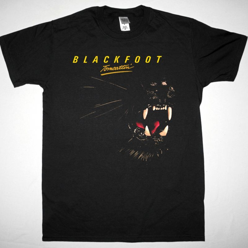 BLACKFOOT TOMCATTIN 1980 NEW BLACK T SHIRT