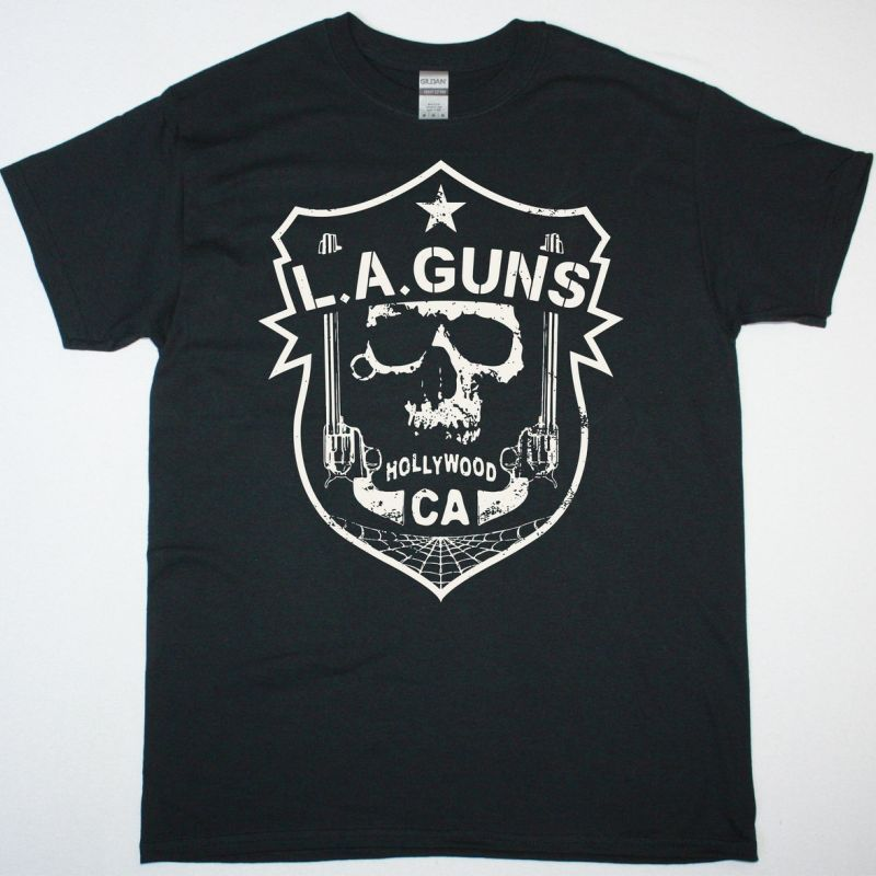 L.A. GUNS RENEGADES SHIELD NEW BLACK TSHIRT