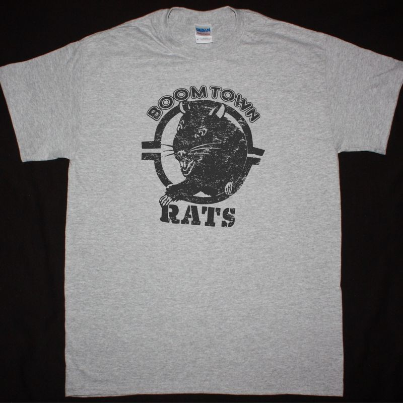 THE BOOMTOWN RATS RAT T SHIRT NEW SPORT GREY T-SHIRT