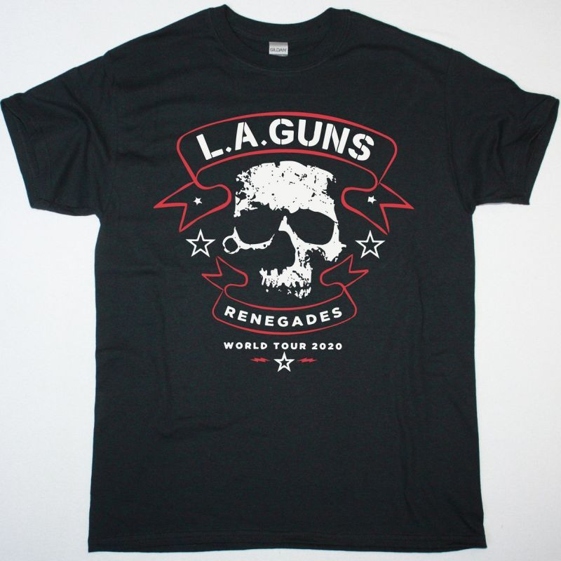 L.A. GUNS RENEGADES WORLD TOUR NEW BLACK TSHIRT