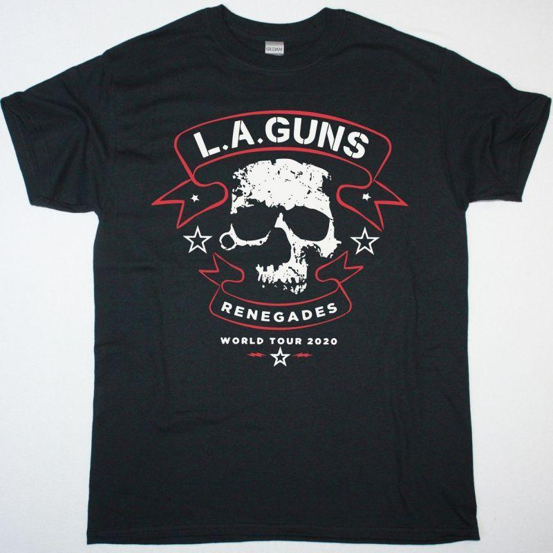 L.A. GUNS RENEGADES WORLD TOUR NEW BLACK TSHIRT