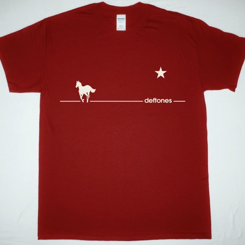 DEFTONES WHITE PONY LINE NEW RED T SHIRT NEW BLACK T-SHIRT
