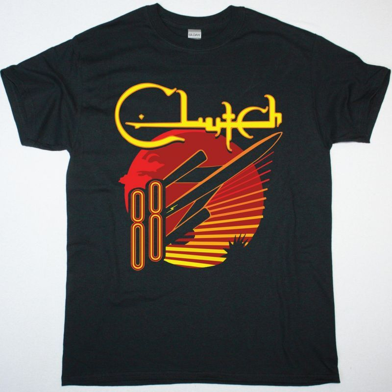CLUTCH ROCKET88 NEW BLACK T-SHIRT