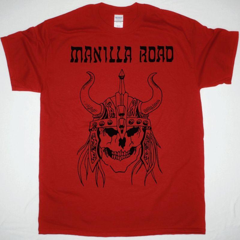 MANILLA ROAD RED SKULL NEW RED T-SHIRT