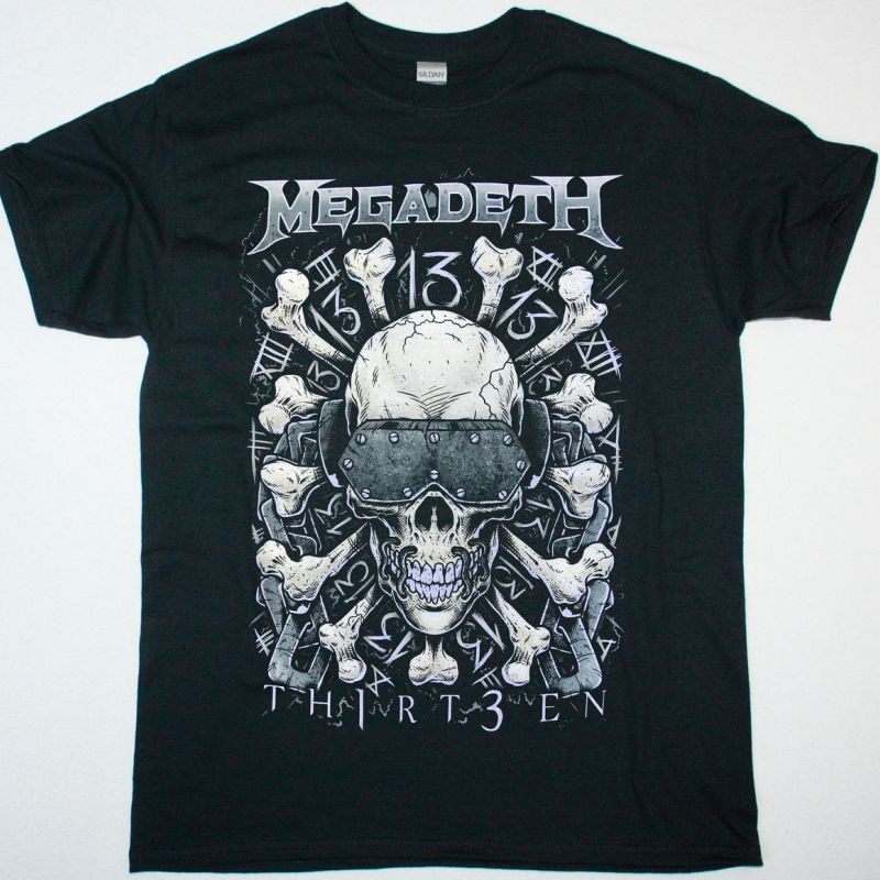 MEGADETH 13TEEN NEW BLACK T-SHIRT