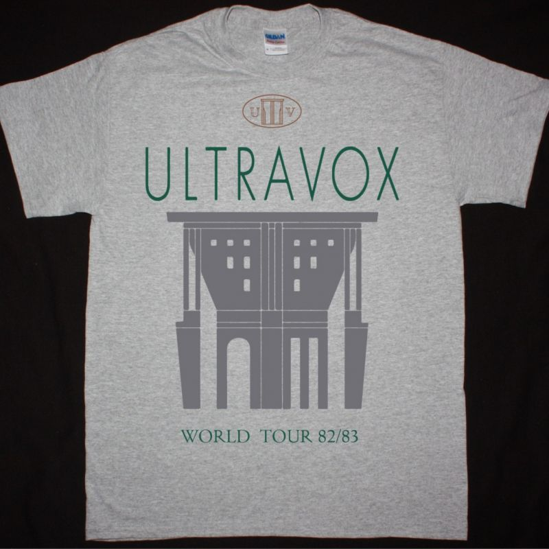 ULTRAVOX WORLD TOUR 82-83 NEW SPORTS GREY T SHIRT