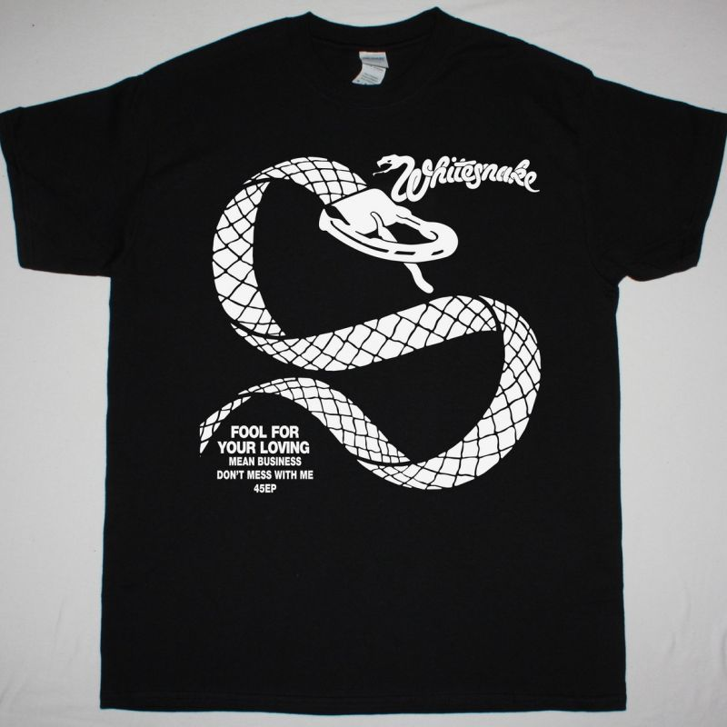 WHITESNAKE FOOL FOR YOUR LOVING NEW BLACK T-SHIRT
