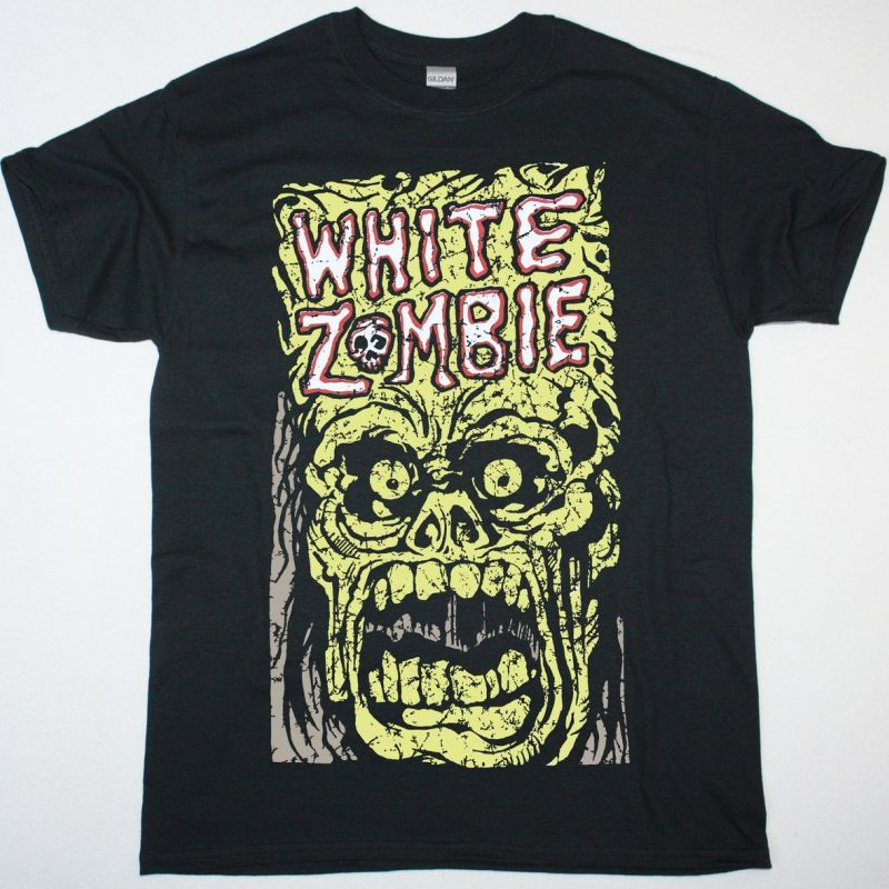 WHITE ZOMBIE MONSTER YELL NEW BLACK T SHIRT