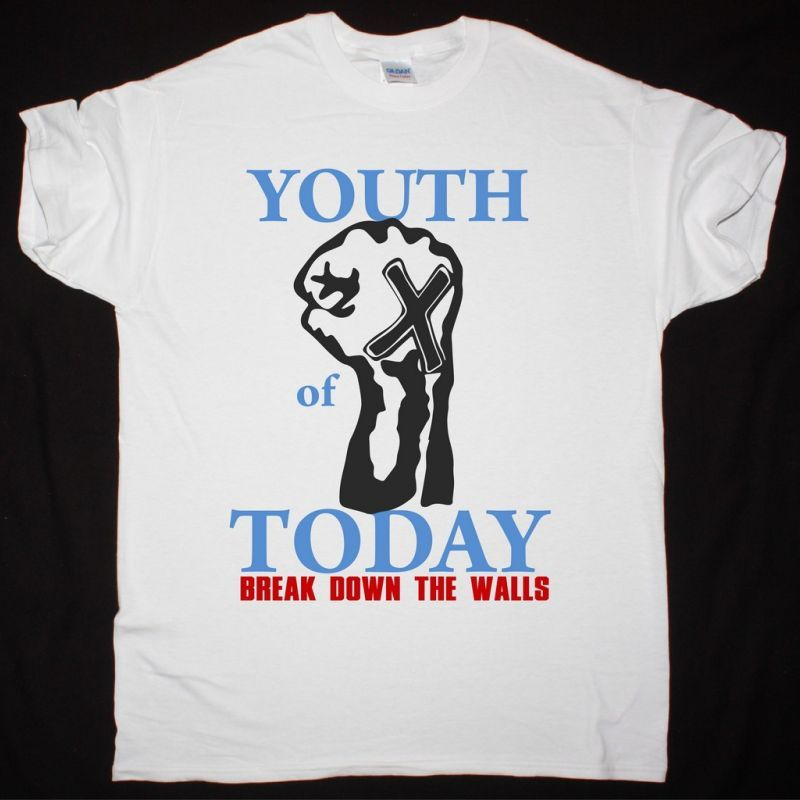 YOUTH OF TODAY BREAK DOWN THE WALLS NEW WHITE T SHIRT