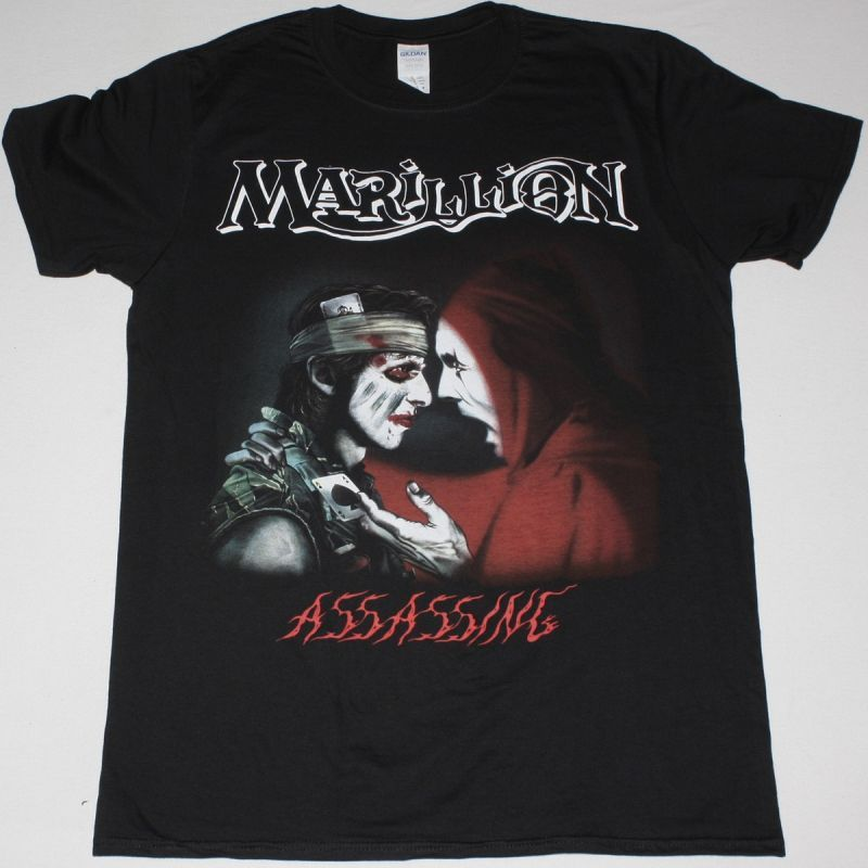 MARILLION ASSASSING NEW BLACK T-SHIRT
