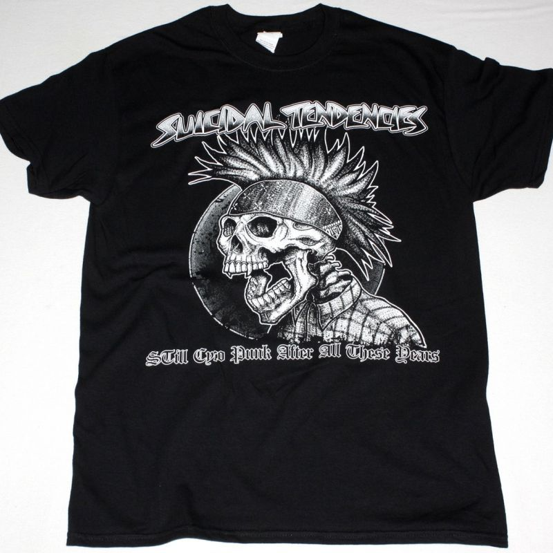SUICIDAL TENDENCIES STILL SYCO PUNK NEW BLACK T-SHIRT