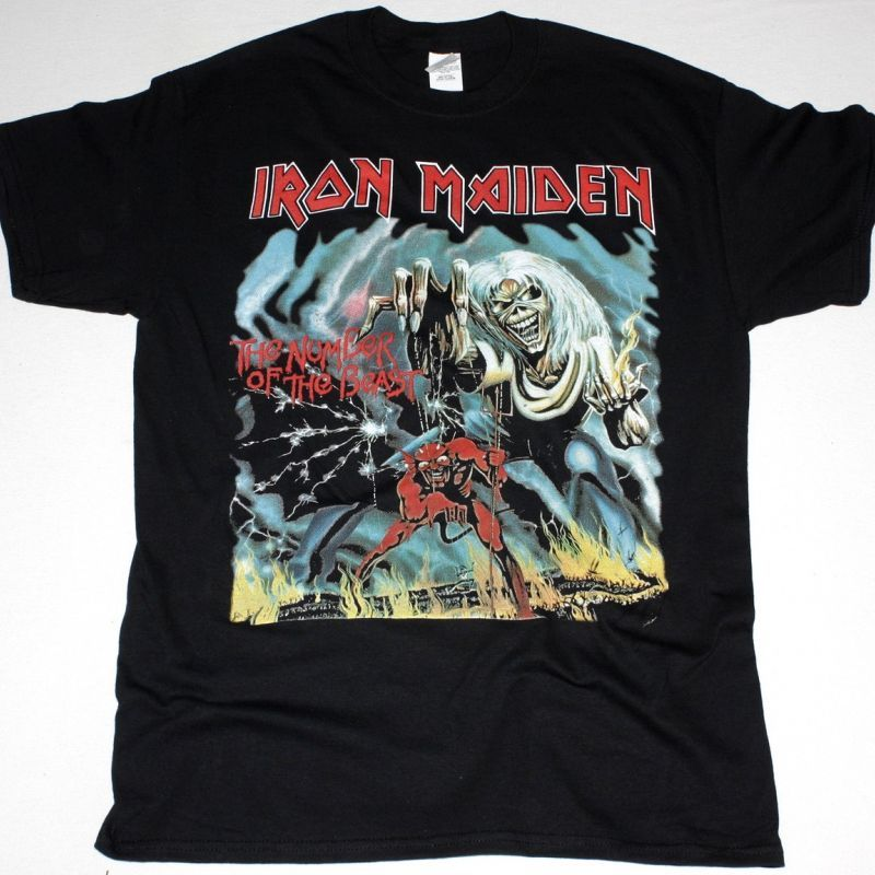 Official Iron Maiden Classic Logo T-Shirt Rock Heavy Metal Band Merchandise