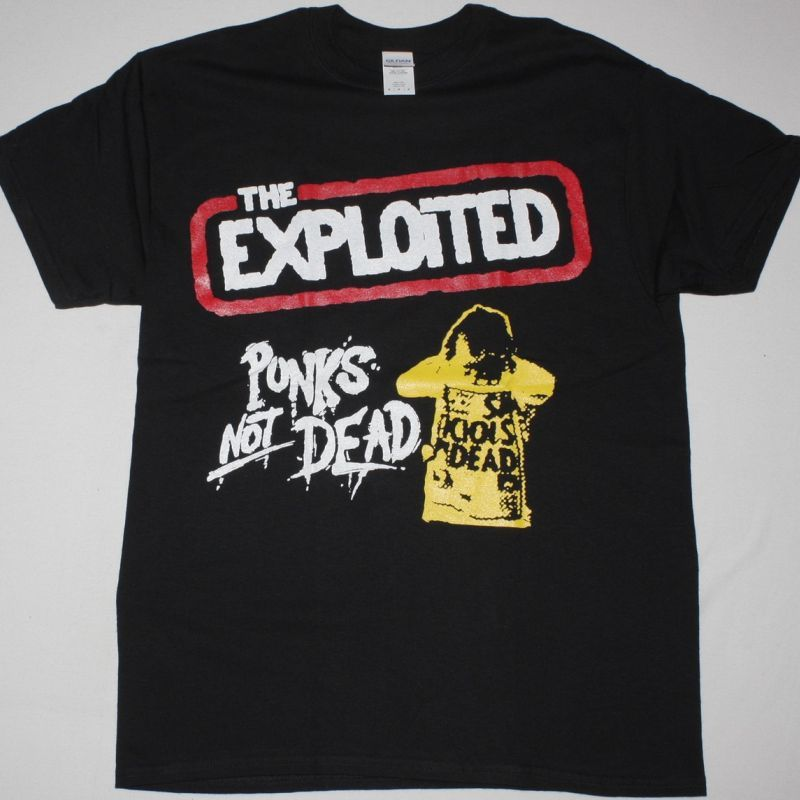 THE EXPLOITED PUNK'S NOT DEAD 1981 NEW BLACK T-SHIRT