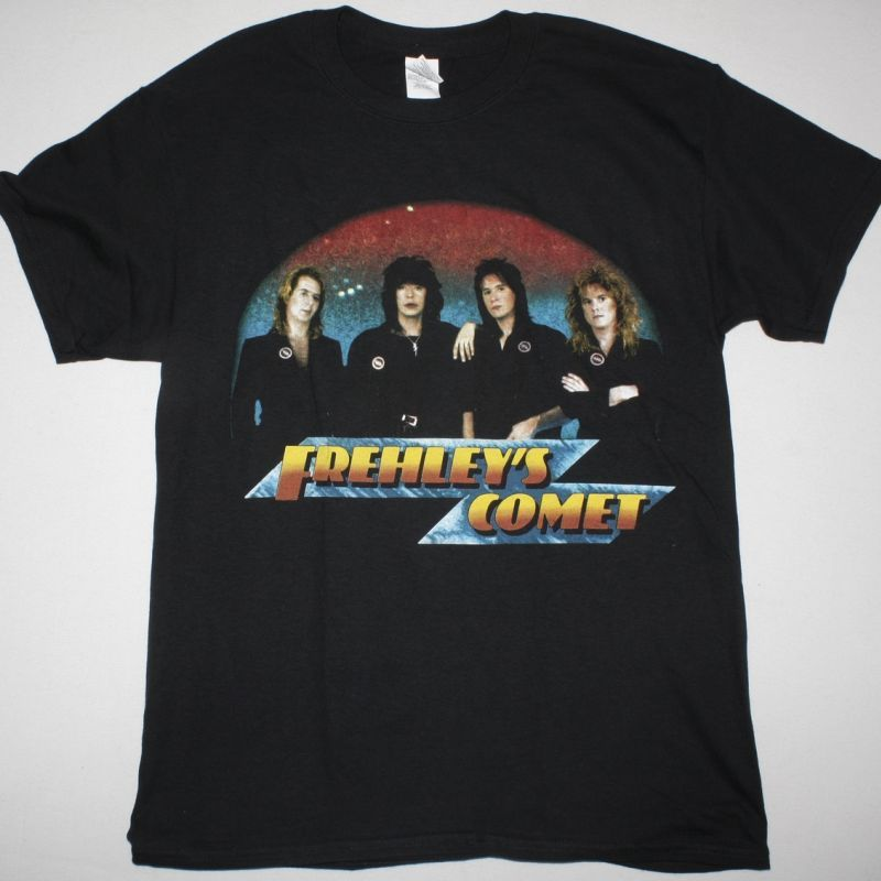 ACE FREHLEY FREHLEY'S COMET NEW BLACK T-SHIRT