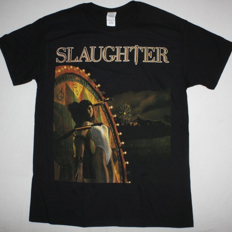 SLAUGHTER STICK IT TO YA NEW BLACK T-SHIRT