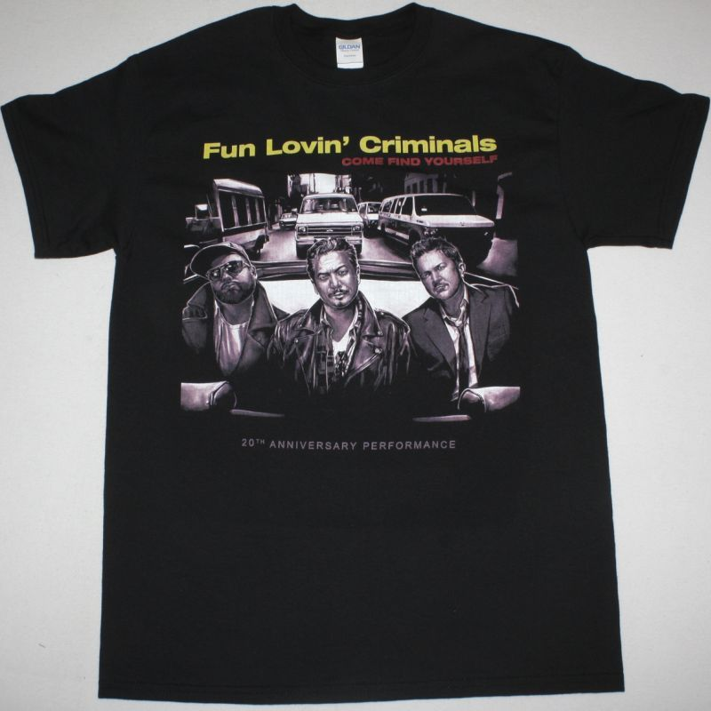 FUN LOVIN CRIMINALS COME FIND YOURSELF 20TH ANNIVERSARY NEW BLACK T-SHIRT
