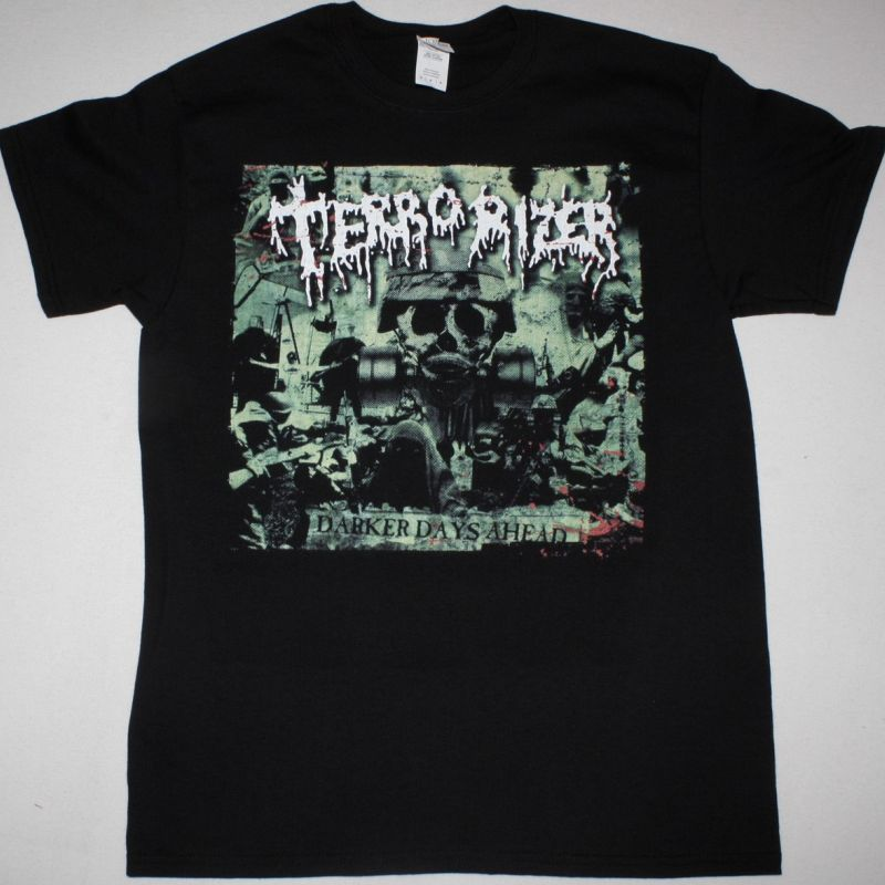 TERRORIZER DARKER DAYS AHEAD NEW BLACK T SHIRT