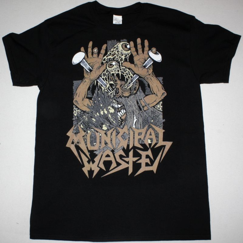 MUNICIPAL WASTE THE THRASHIN OF THE CHRIST NEW BLACK T-SHIRT