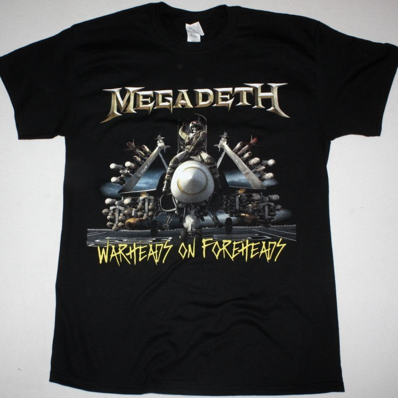 MEGADETH WARHEADS ON FOREHEADS NEW BLACK T-SHIRT