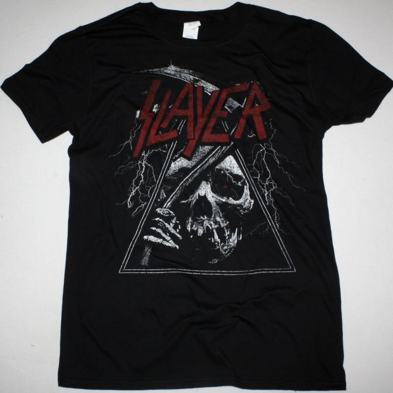 SLAYER TRIANGLE REAPER NEW BLACK T SHIRT