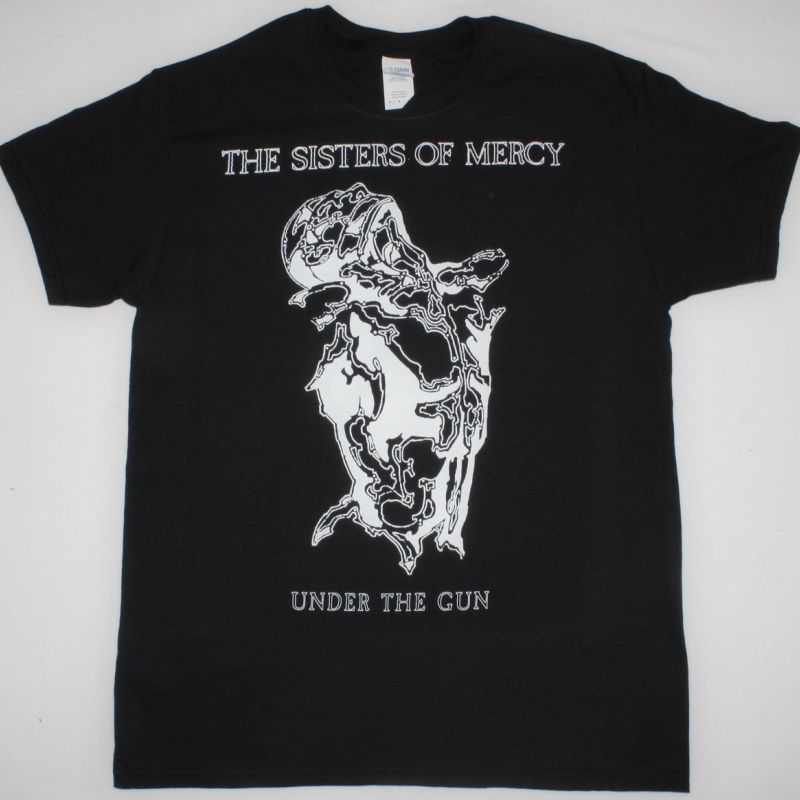 THE SISTERS OF MERCY UNDER THE GUN  NEW BLACK T-SHIRT