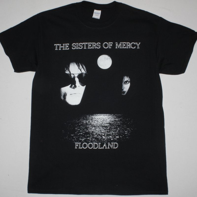 THE SISTERS OF MERCY FLOODLAND  NEW BLACK T-SHIRT