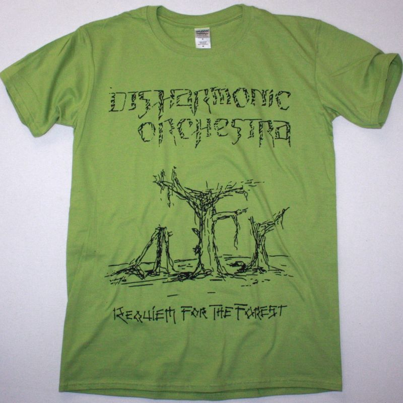 DISHARMONIC ORCHESTRA REQUIEM FOR A FOREST NEW KIWI GREEN T-SHIRT