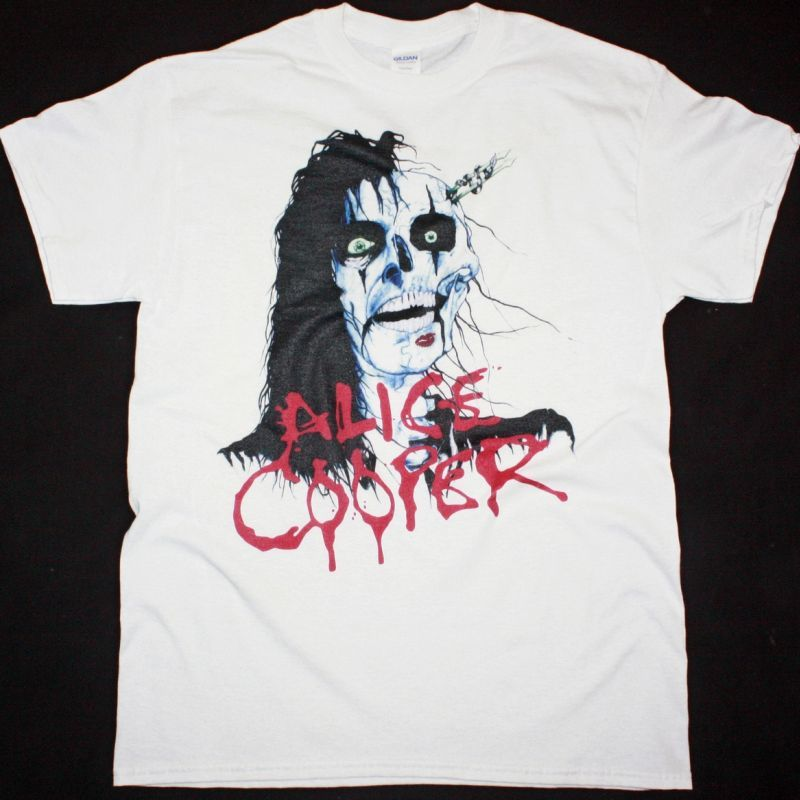 ALICE COOPER RAISE YOUR FIST AND YELL TOUR NEW WHITE T-SHIRT