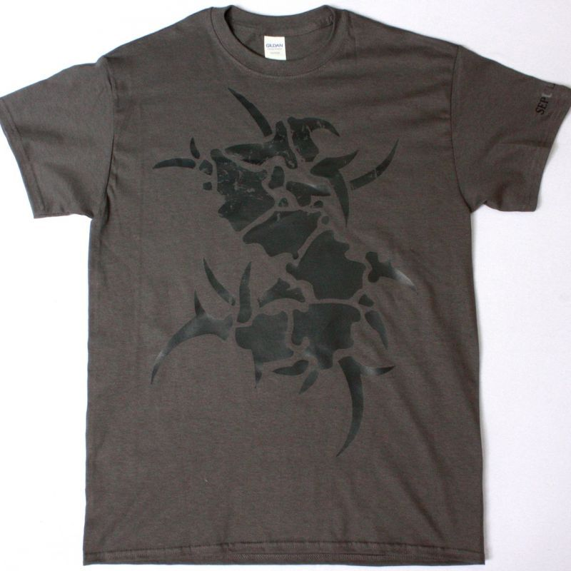 SEPULTURA LOGO GREY NEW GREY CHARCOAL T-SHIRT