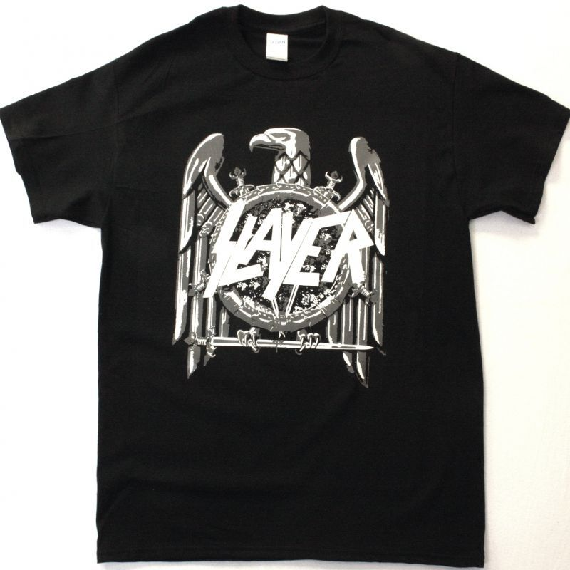 SLAYER LOGO EAGLE NEW BLACK T SHIRT