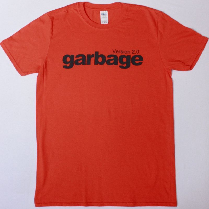 GARBAGE VERSION 2.0 NEW ORANGE T-SHIRT