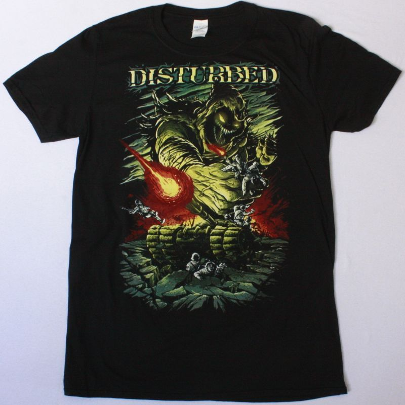 DISTURBED EVOLUTION WORLD TOUR NEW BLACK T-SHIRT