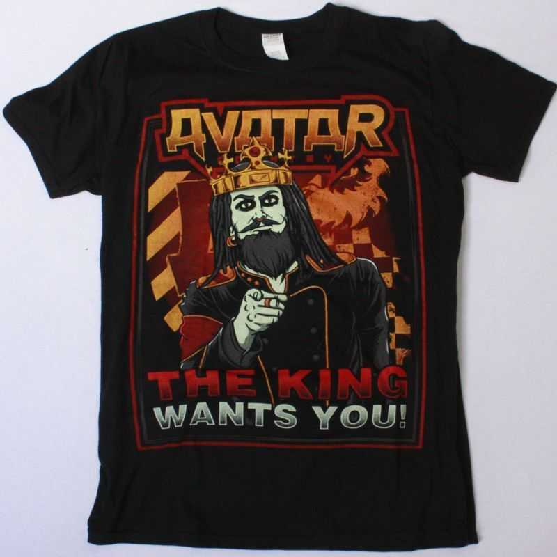 AVATAR THE KING WANTS YOU NEW BLACK T-SHIRT