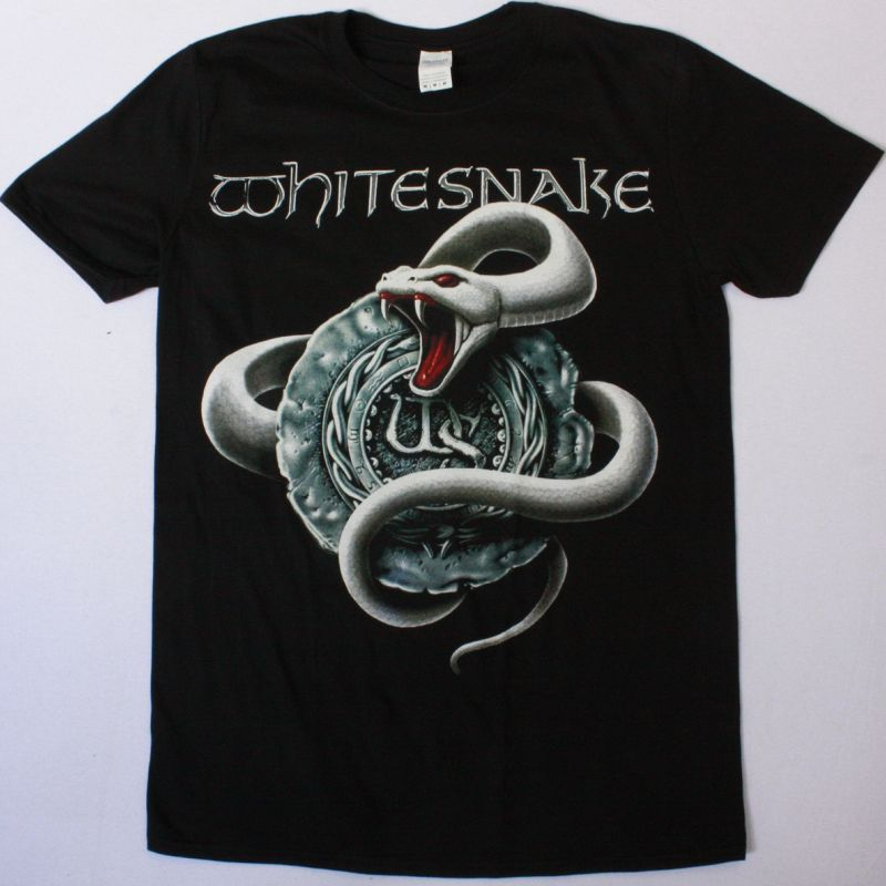 WHITESNAKE WHITE SNAKE NEW BLACK T-SHIRT