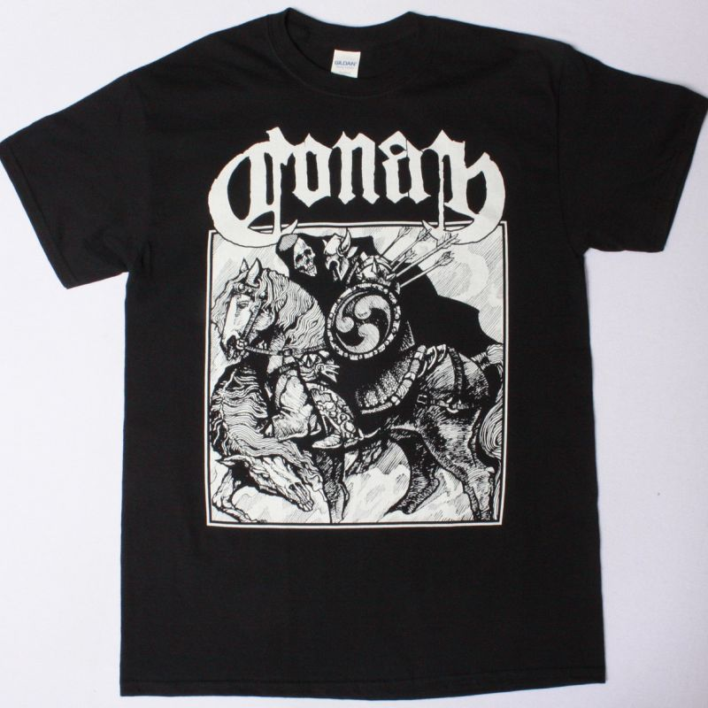 CONAN HORSEBACK BATTLE NEW BLACK T-SHIRT