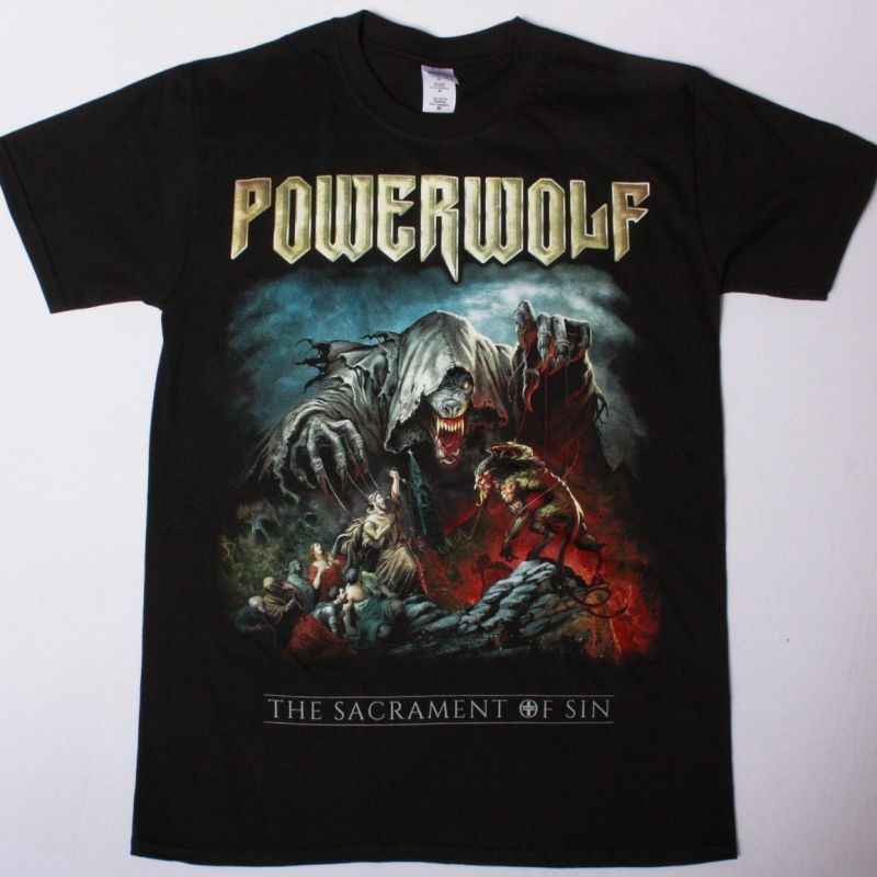 POWERWOLF THE SACRAMENT OF SIN NEW BLACK T-SHIRT