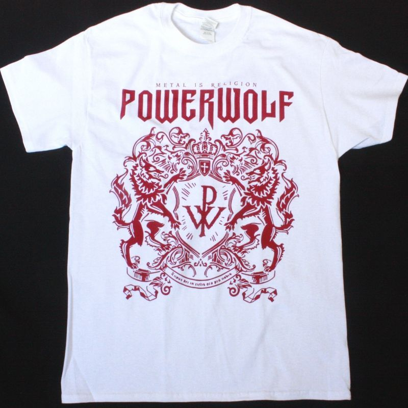 POWERWOLF METAL IS RELIGION NEW WHITE T-SHIRT