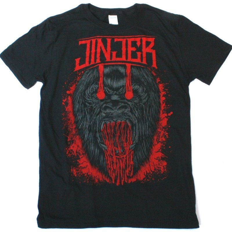 JINJER APE NEW BLACK T-SHIRT