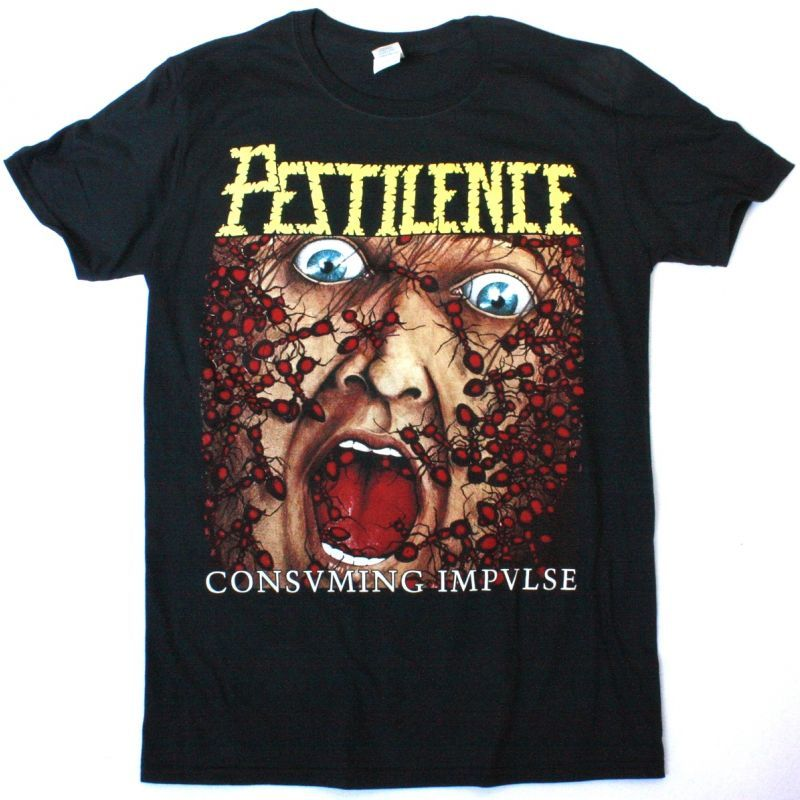 PESTILENCE CONSUMING IMPULSE NEW BLACK T-SHIRT