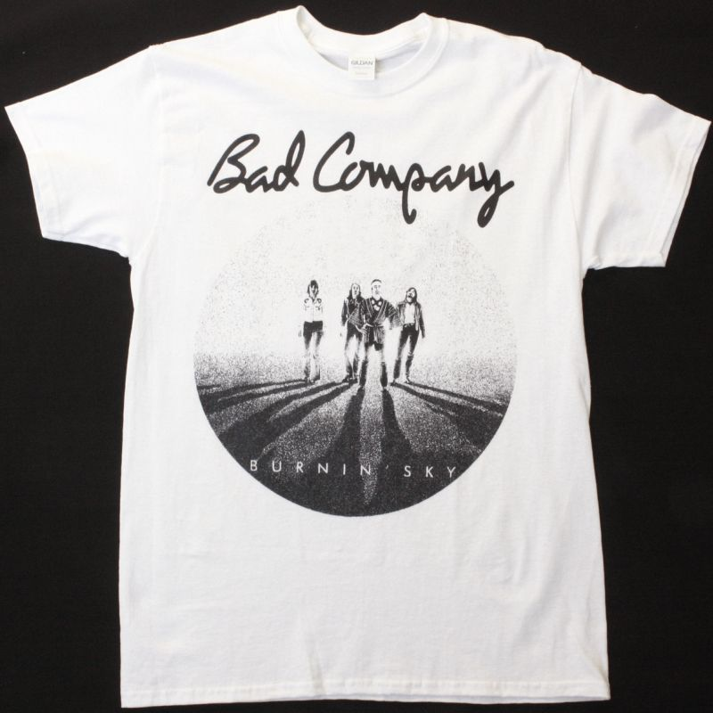 BAD COMPANY BURNIN SKY NEW WHITE T SHIRT