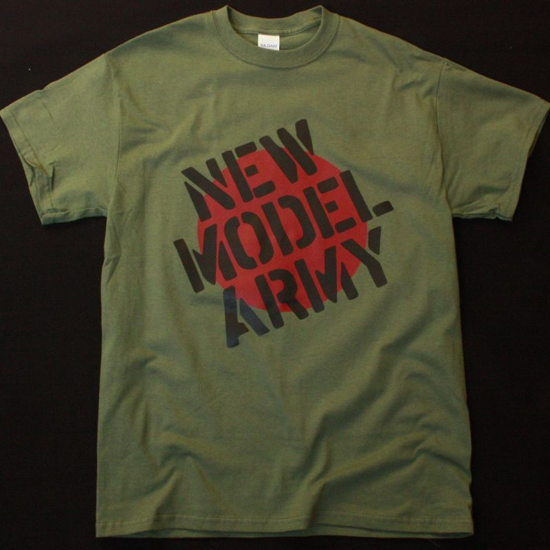 NEW MODEL ARMY LOGO NEW MILITARY GREEN T SHIRT