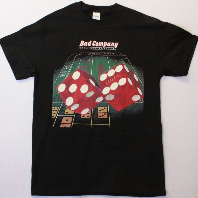 BAD COMPANY STRAIGHT SHOOTER NEW BLACK T SHIRT