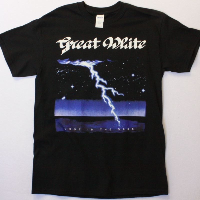 GREAT WHITE SHOT IN THE DARK  NEW BLACK-TSHIRT