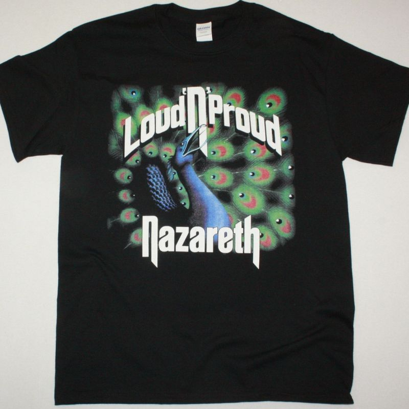 NAZARETH LOUD N PROUD 1974  NEW BLACK T SHIRT