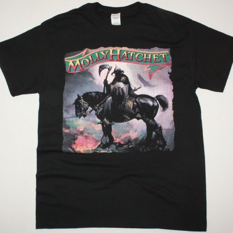 MOLLY HATCHET 1978 NEW BLACK T SHIRT