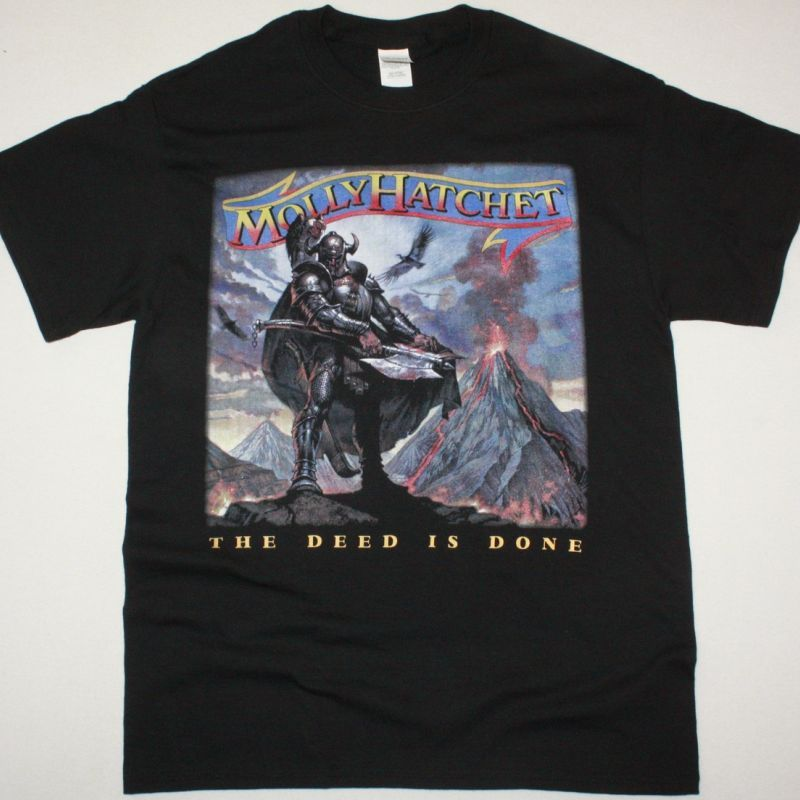 MOLLY HATCHET THE DEED IS DONE 1984 NEW BLACK T SHIRT