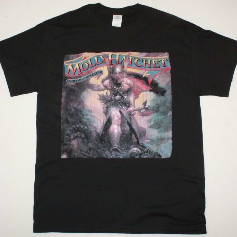 MOLLY HATCHET FLIRTIN WITH DISASTER 1979 NEW BLACK T SHIRT