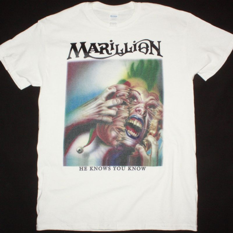 MARILLION HE KNOWS YOU KNOW NEW WHITE T-SHIRT