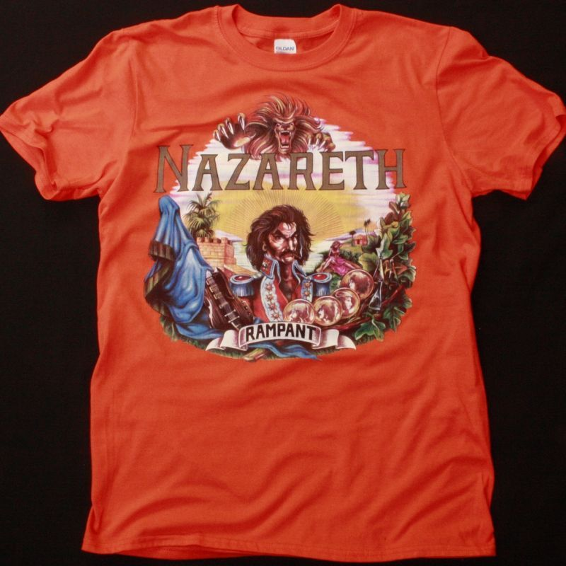 NAZARETH RAMPANT 1974 NEW ORANGE T SHIRT