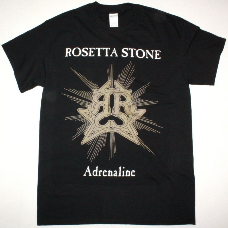 ROSETTA STONE ADRENALINE NEW BLACK T-SHIRT